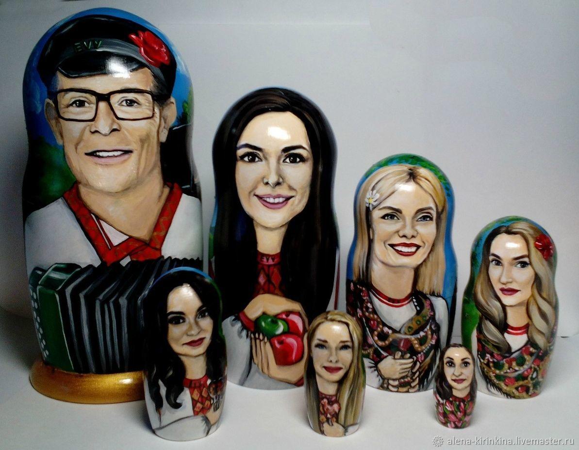 АКЦИЯ: Портреты на матрёшках по фото, Именные сувениры, Магнитогорск,  Фото №1