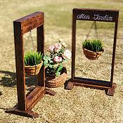 Цветы и флористика handmade. Livemaster - original item Frame-stand with hanging baskets. Handmade.