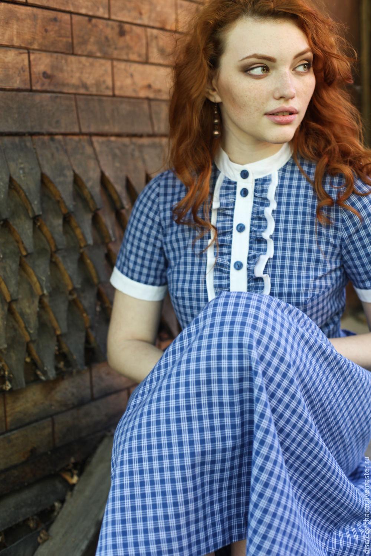 Клетчатое летнее платье