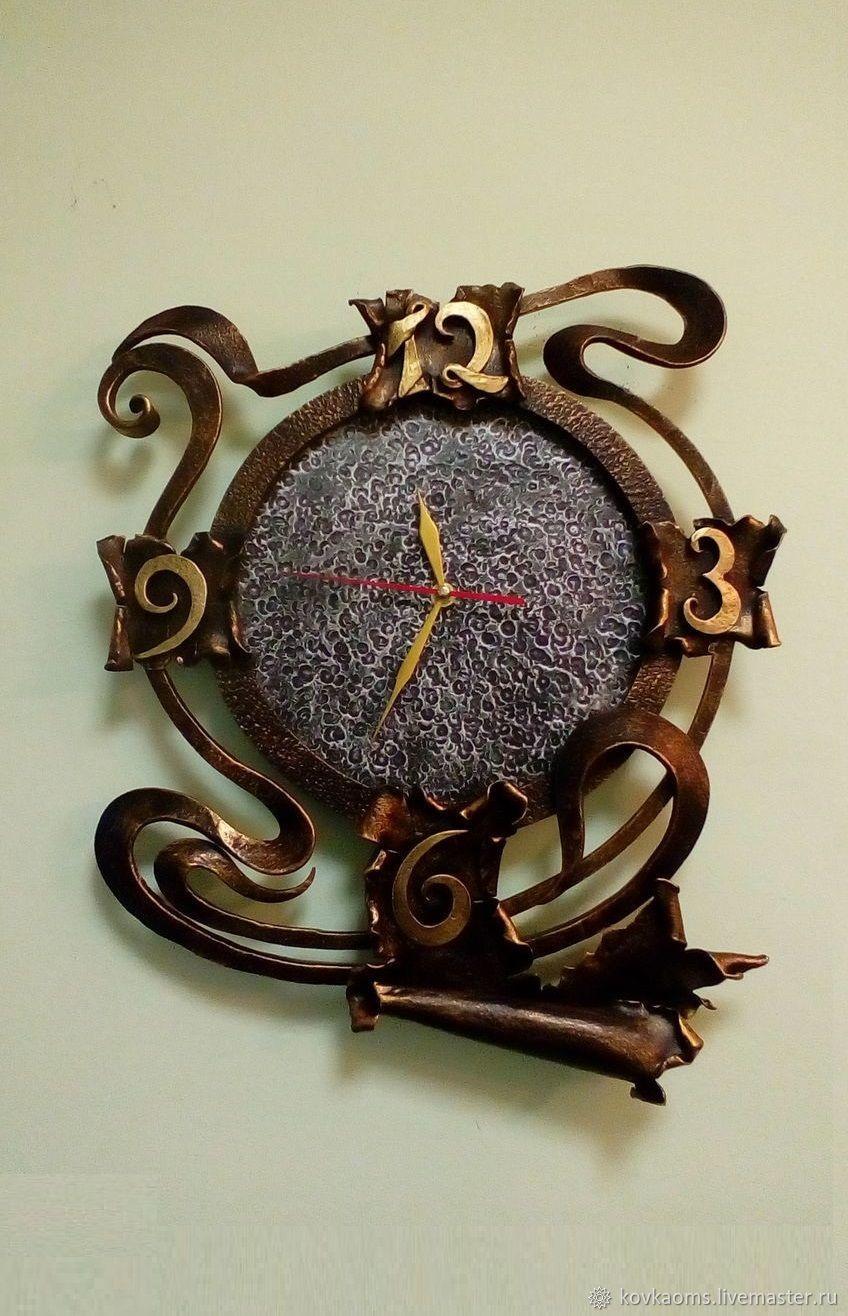 Часы для дома ручной работы. Ярмарка Мастеров - ручная работа. Купить Кованые часы Модерн. Handmade. Подарок, часы интерьерные