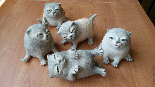 Статуэтки ручной работы. Ярмарка Мастеров - ручная работа. Купить Коты и кошки. Handmade. Чёрно-белый, керамика ручной работы