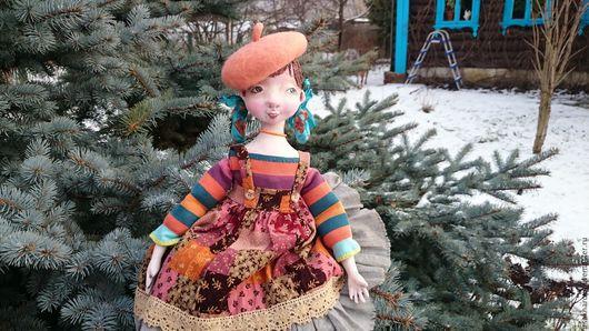 Коллекционные куклы ручной работы. Ярмарка Мастеров - ручная работа. Купить Подвижная куколка из папье маше Морковка.... Handmade. Рыжий