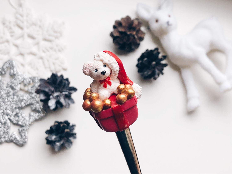 Мишка на ложке из полимерной глины подарок на Новый 2020 год hand made, Ложки, Санкт-Петербург,  Фото №1
