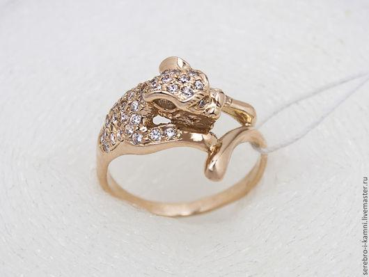 Кольца ручной работы. Ярмарка Мастеров - ручная работа. Купить кольцо Пантера (золото 585 или серебро 925, фианиты). Handmade.
