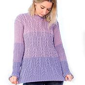 Одежда handmade. Livemaster - original item Knitted pullover Lila. Handmade.