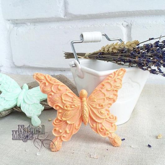 Мыло ручной работы. Ярмарка Мастеров - ручная работа. Купить Кружевные бабочки сувенирное мыло ручной работы. Handmade.