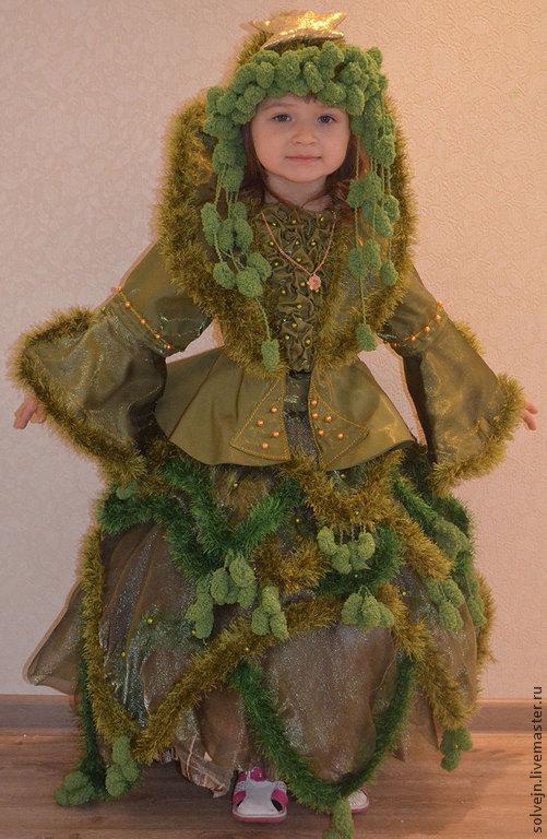 Карнавальные костюмы ручной работы. Ярмарка Мастеров - ручная работа. Купить Королева Елка. Handmade. Зеленый, органза, пряжа