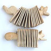 Музыкальные инструменты ручной работы. Ярмарка Мастеров - ручная работа Трещетка в виде зверей. Handmade.