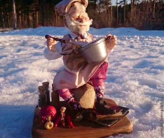 Коллекционные куклы ручной работы. Ярмарка Мастеров - ручная работа. Купить Троль поварёнок. Handmade. Комбинированный, авторская ручная работа