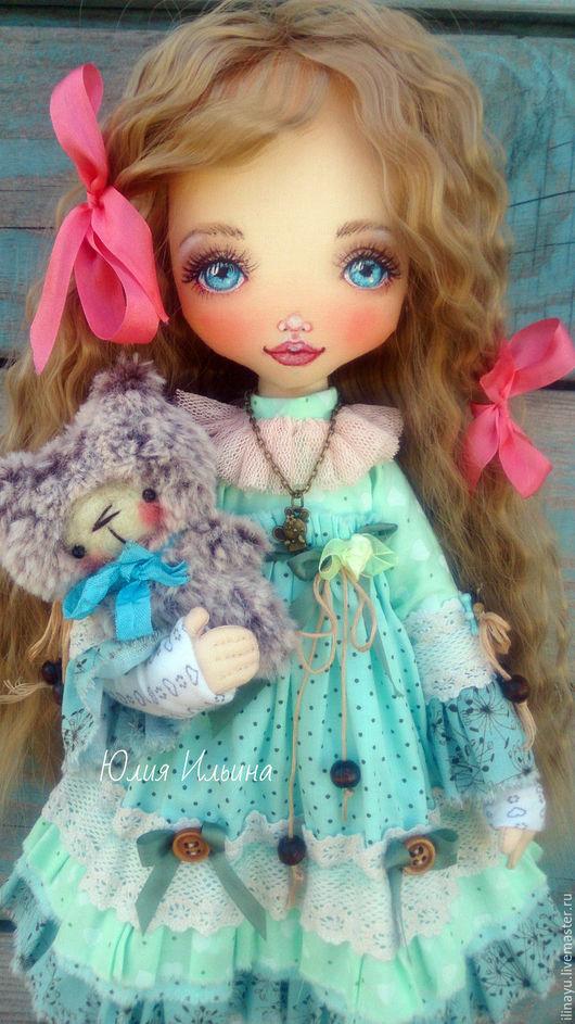 Коллекционные куклы ручной работы. Ярмарка Мастеров - ручная работа. Купить Текстильная кукла. Handmade. Мятный, кукла интерьерная