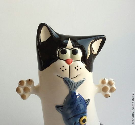 Статуэтки ручной работы. Ярмарка Мастеров - ручная работа. Купить коты - серия Охотники. Handmade. Оранжевый, коты и кошки, фарфор