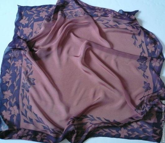 Шали, палантины ручной работы. Ярмарка Мастеров - ручная работа. Купить Платок шелковый батик Японские мотивы 2. Handmade.