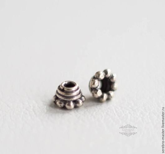 Для украшений ручной работы. Ярмарка Мастеров - ручная работа. Купить Шапочки для бусин-спейсер серебро 925 пробы Арт 2025. Handmade.