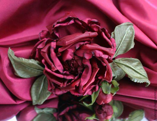 """Ткань для цветов ручной работы. Ярмарка Мастеров - ручная работа. Купить Тафта """"Вишня"""". Handmade. Бордовый, вишневый"""