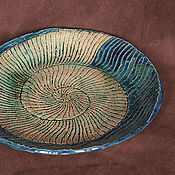 Посуда ручной работы. Ярмарка Мастеров - ручная работа Блюдо керамическое Аммонит. Handmade.