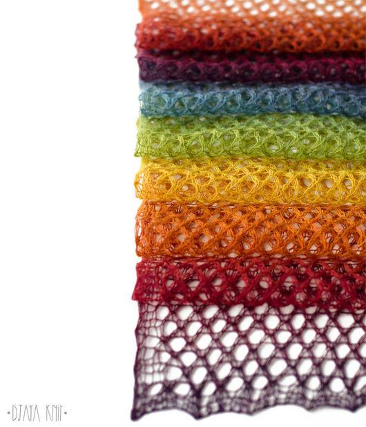 Шарфы и шарфики ручной работы. Ярмарка Мастеров - ручная работа. Купить Шарф ажурный Радуга (100% шерсть). Handmade. Комбинированный