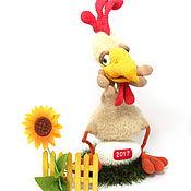 Куклы и игрушки handmade. Livemaster - original item Crochet toy crochet rooster Petrovich symbol of 2017. Beige. Handmade.