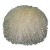Аксессуары handmade. Livemaster - original item White sheepskin hat. Handmade.