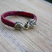 Украшения handmade. Livemaster - original item Dragon bracelet natural Python leather. Handmade.