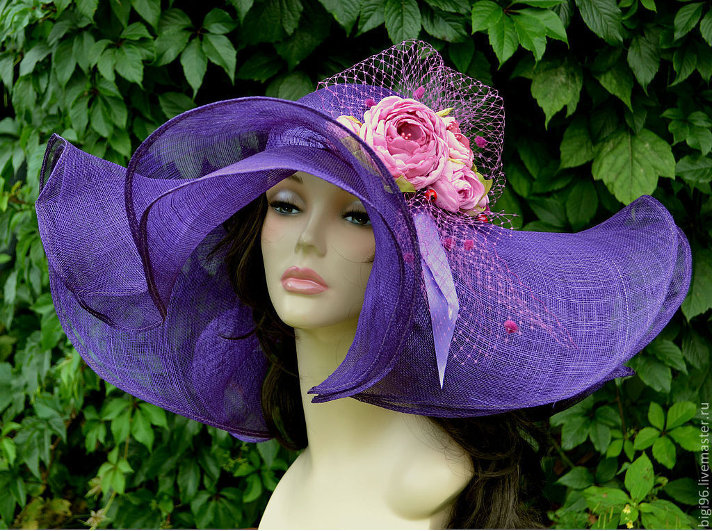 Summer hat ' garden roses', Hats1, Moscow,  Фото №1