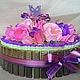 Кулинарные сувениры ручной работы. Ярмарка Мастеров - ручная работа. Купить Торт из конфет. Радость вкуса. Handmade. Торт из конфет
