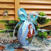 Елочные игрушки ручной работы. Ярмарка Мастеров - ручная работа Новогодняя ёлочная игрушка, новогоднее украшение медальон на ёлку.. Handmade.