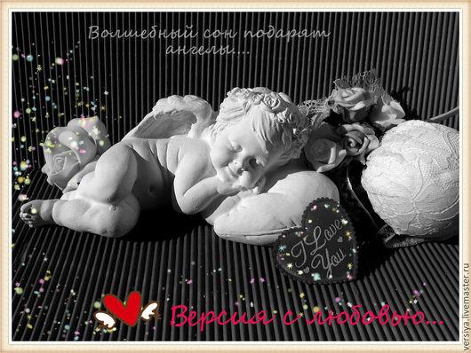 Статуэтки ручной работы. Ярмарка Мастеров - ручная работа. Купить Ангел спит.. Handmade. Белый, статуэтка, для дома и интерьера