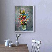 Картины и панно handmade. Livemaster - original item Picture of a Bouquet from the garden. Handmade.