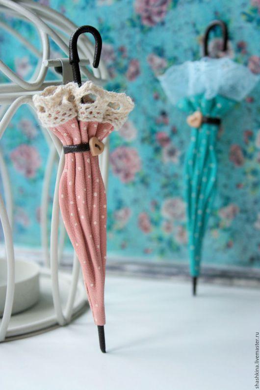 """Броши ручной работы. Ярмарка Мастеров - ручная работа. Купить Брошь-зонтик """"Candy"""". Броши из кожи, зонтик из кожи, цветы из кожи. Handmade."""