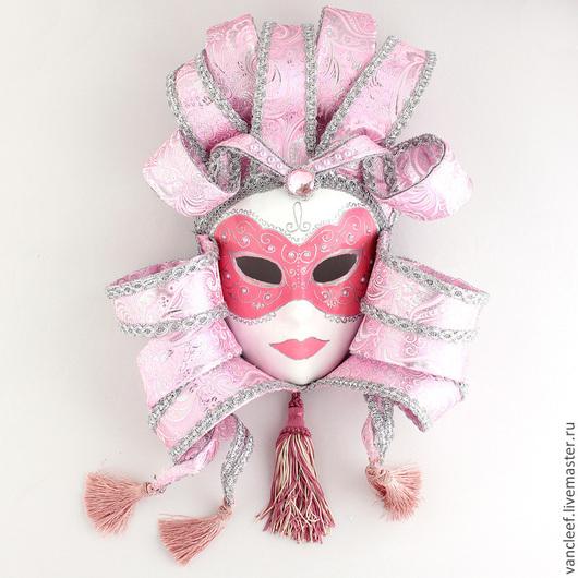 Интерьерные  маски ручной работы. Ярмарка Мастеров - ручная работа. Купить Интерьерная венецианская маска Леди. Handmade. Розовый, маска