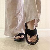 Обувь ручной работы handmade. Livemaster - original item Slippers Flip-Flops Flip-Flops. Slates. Handmade.