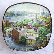 Для дома и интерьера handmade. Livemaster - original item Decorative plate is My favorite city. Handmade.