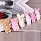 Куклы и игрушки ручной работы. Ярмарка Мастеров - ручная работа. Купить Зайка плюшевый 5,5см  3цвета В НАЛИЧИИ. Handmade.