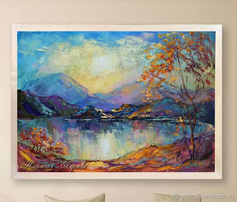 Oil painting of the mountains - buy a vivid picture of the Shiryaevo Natalia