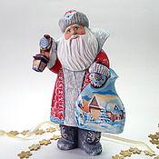 Подарки к праздникам handmade. Livemaster - original item Santa Claus with a flashlight, boots. Handmade.