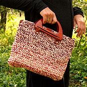 """Сумки и аксессуары ручной работы. Ярмарка Мастеров - ручная работа Сумка handbag """"Коралловый меланж"""" ручной вязки. Handmade."""
