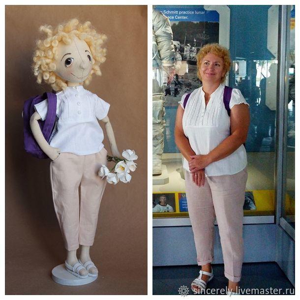 Путешественница с рюкзаком, Портретная кукла, Зеленоград,  Фото №1