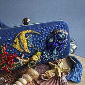 """Сумки и аксессуары ручной работы. Ярмарка Мастеров - ручная работа Клатч-бокс """"Коралловый риф"""" : вышивка бисером, кристаллы Swarovski. Handmade."""