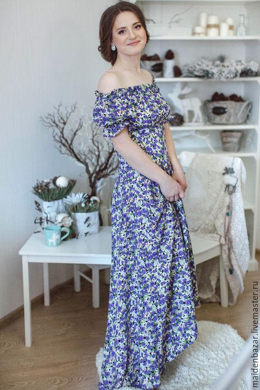Платья ручной работы. Ярмарка Мастеров - ручная работа. Купить Платье. Handmade. Цветочный, красивое платье, модное платье
