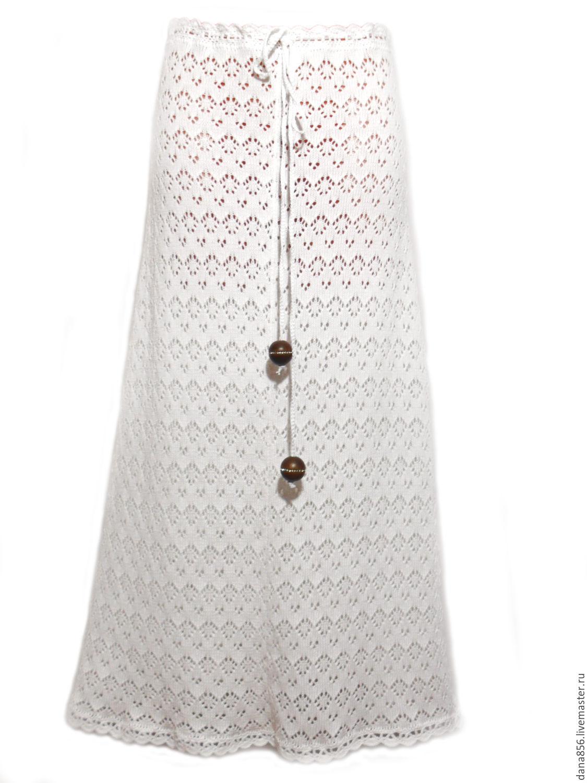 Вязаные юбки белые