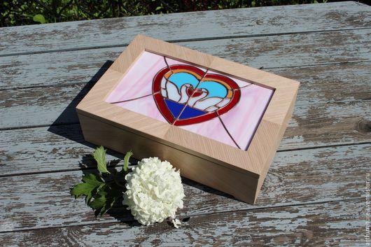 Подарки на свадьбу ручной работы. Ярмарка Мастеров - ручная работа. Купить Свадебная шкатулка для украшений - подарок на свадьбу Лебеди. Handmade.