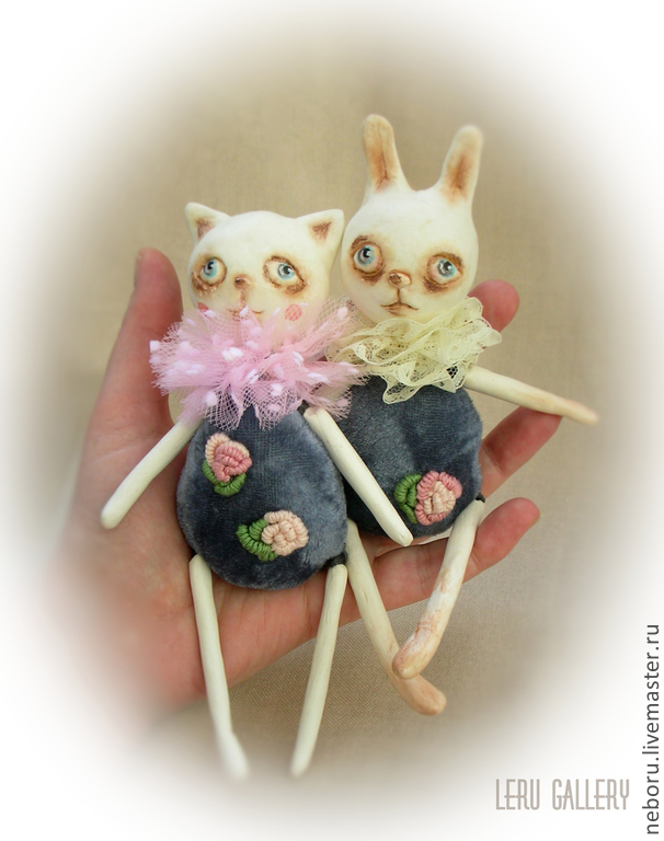 Киска и Зая. Авторская коллекционная кукла, Куклы, Москва, Фото №1