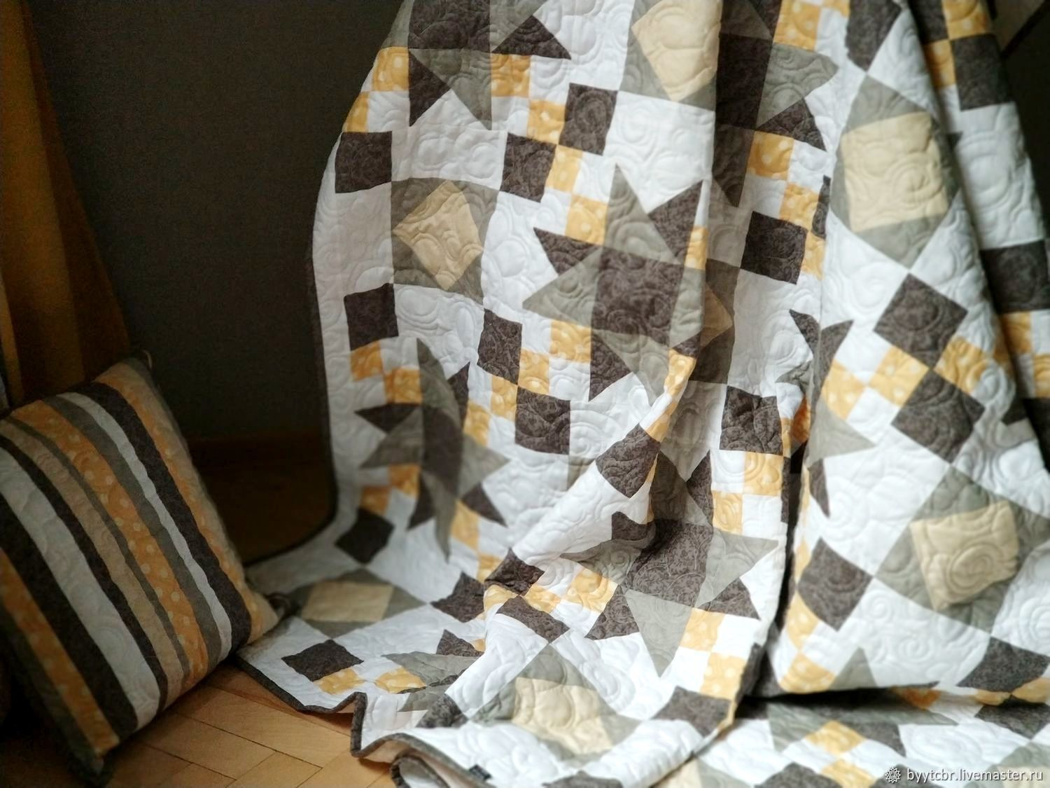 Patchwork bedspread AUTUMN MORNING, Blanket, Moscow,  Фото №1