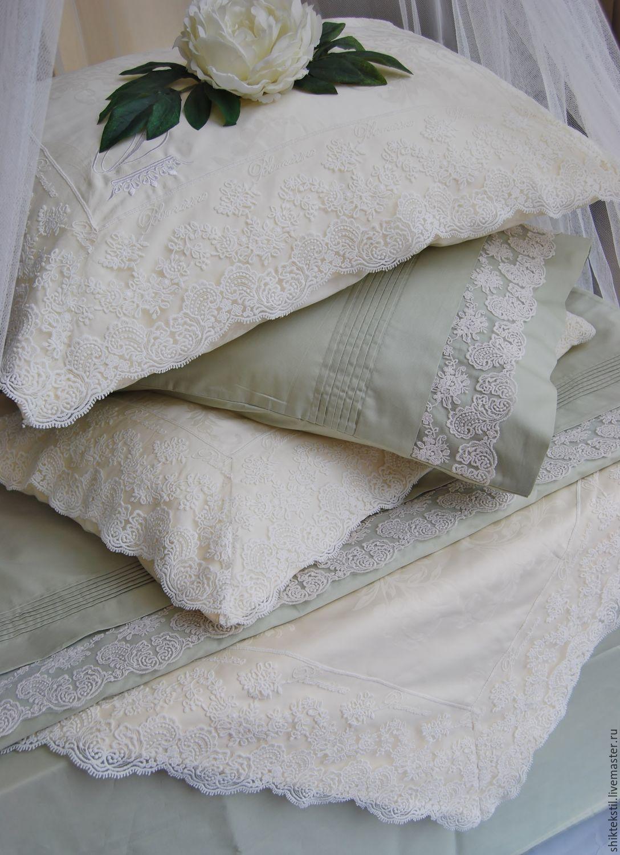 Подарок на свадьбу. Постельное белье с кружевом Марисабель и Эльза, Подарки, Самара,  Фото №1