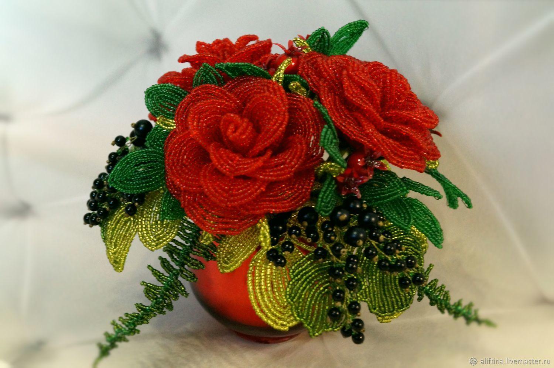 все обеспеченные розы из бисера фото новые мастер класс проделывают это