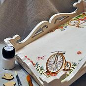"""Для дома и интерьера ручной работы. Ярмарка Мастеров - ручная работа Поднос """"Велосипеды"""". Handmade."""