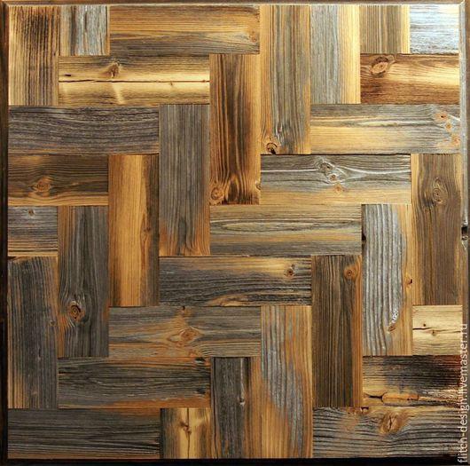 Абстракция ручной работы. Ярмарка Мастеров - ручная работа. Купить Панно из старой древесины RN02. Handmade. Темно-серый, сосна