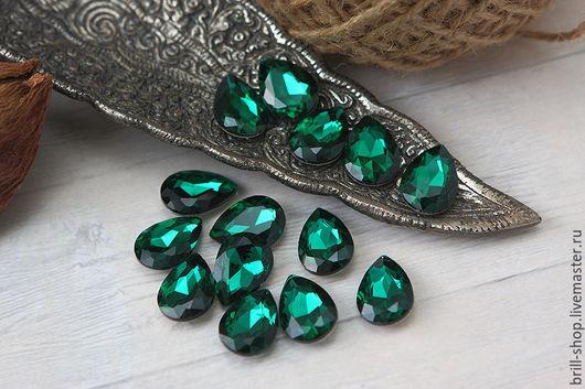 Для украшений ручной работы. Ярмарка Мастеров - ручная работа. Купить Капли 13х18 мм Emerald (Изумруд). Handmade.