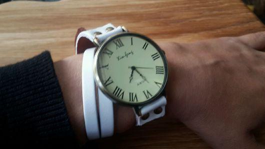 Часы ручной работы. Ярмарка Мастеров - ручная работа. Купить Винтажные наручные часы. Handmade. Часы, кожа