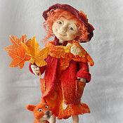 """Куклы и игрушки ручной работы. Ярмарка Мастеров - ручная работа Войлочная композиция """"Рыжая осень"""". Handmade."""